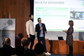 Ben Weisgerber (Weisgerber & Fils), Pol Weisgerber (Weisgerber & Fils) et Sandie Lahure ((Photo: Matic Zorman/Maison Moderne))
