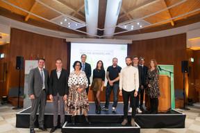 Les membres du jury, lauréats et candidats du prix du Meilleur créateur d'entreprise dans l'artisanat organisé par la Chambre des métiers. ((Photo: Matic Zorman/Maison Moderne))