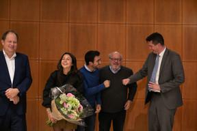 Gilles Scholtus (ministère de l'Économie), Alexandra Kahn (Genaveh), Daniel Kahn et Lex Delles (Ministre des Classes moyennes et du Tourisme) ((Photo: Matic Zorman/Maison Moderne))
