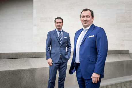 Paolo Faraone, CEO de Notz Stucki Europe, et Patrick Sermaize, Head of Wealth Management chez Notz Stucki Europe – Luxembourg.  (Photo: Nader Ghavami – Notz Stucki)