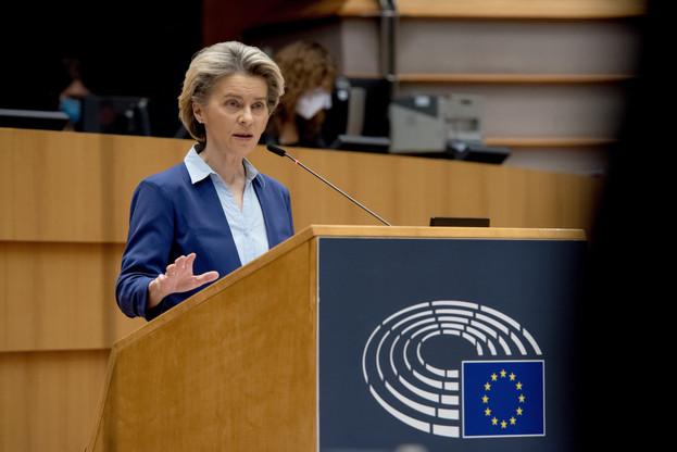 La présidente de la Commission européenne, Ursula von der Leyen, a notamment annoncé un nouveau cadre réglementaire pour accélérer le processus d'approbation de nouveaux vaccins par l'Agence européenne des médicaments. (Photo: UE)