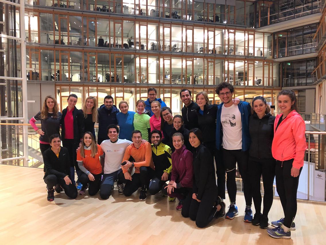 La team TRE de la Banque européenne d'investissement, prête pour l'entraînement. (Photo: BEI)