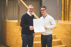 Olivier Deboeck (Axiome Services) et Julien Delpy (Maison Moderne) ((Photo: Arthur Ranzy))