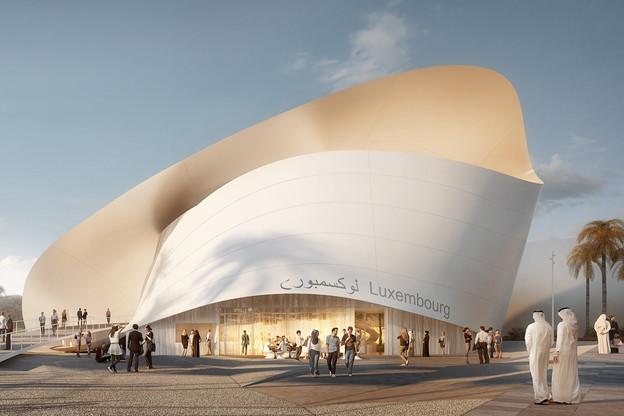 Le pavillon luxembourgeois reprend la forme du ruban de Möbius. (Visuel: Metaform Architects)