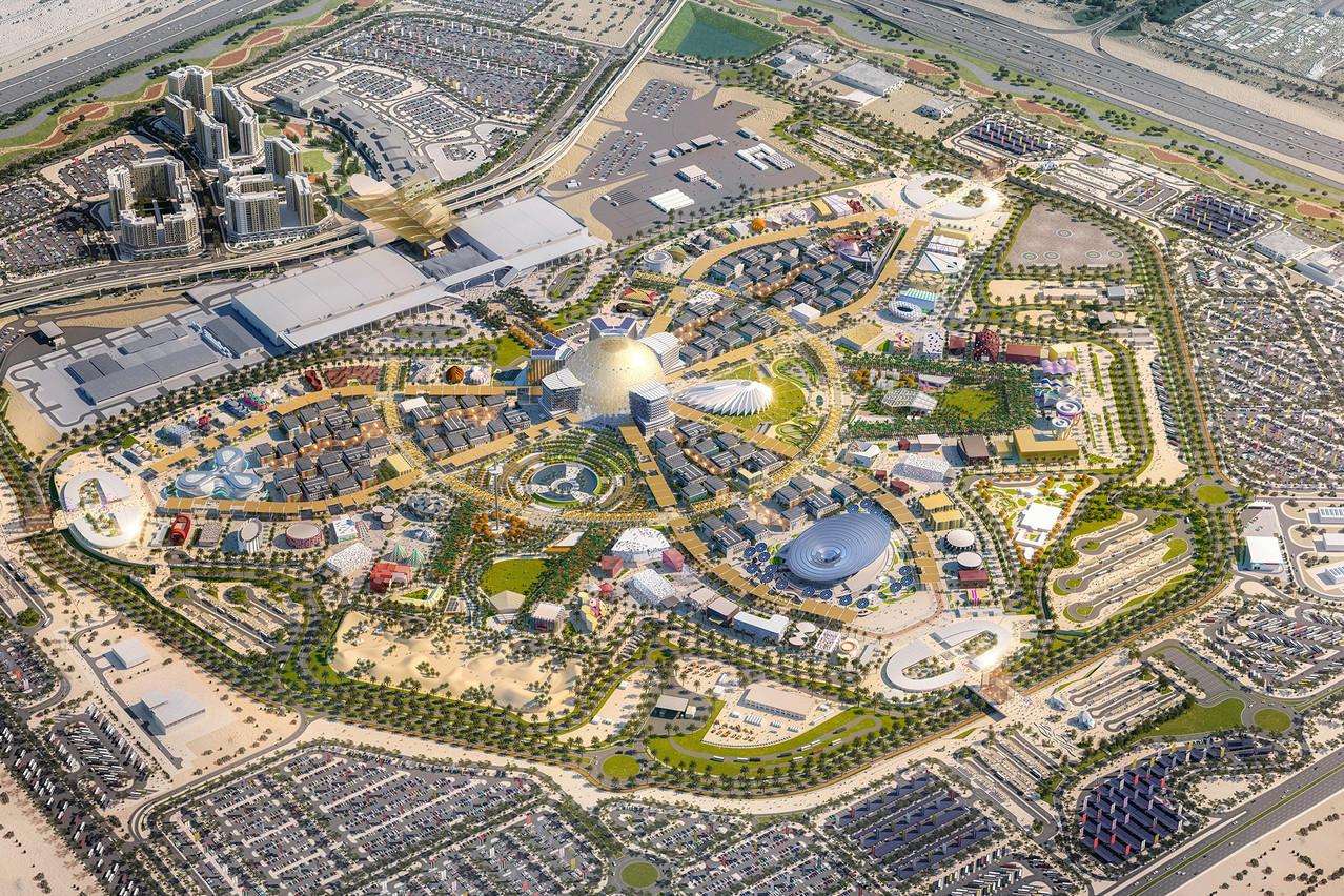 Vue générale du site. (Visuel: Expo 2020 Dubaï)