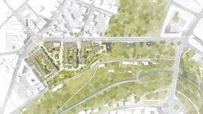 Plan de masse du projet ((Illustration: Metaform Architects/CityTools/Agence Babylone))