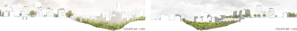 Coupes AA ((Illustration: Metaform Architects/CityTools/Agence Babylone))