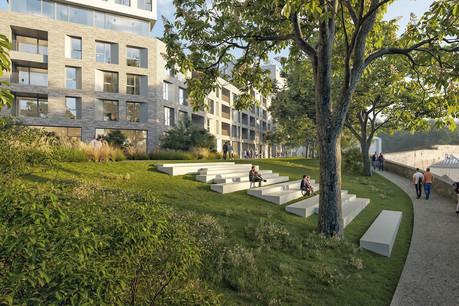 Le projet de Metaform Architects prévoit des gradins pour admirer le paysage sur la corniche. (Illustration: Metaform Architects/CityTools/Agence Babylone)