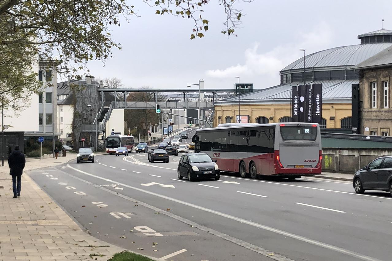 La rocade de Bonnevoie connaît un trafic automobile très important. L'idée d'y installer un tunnel est donc à l'étude. (Photo: Paperjam)