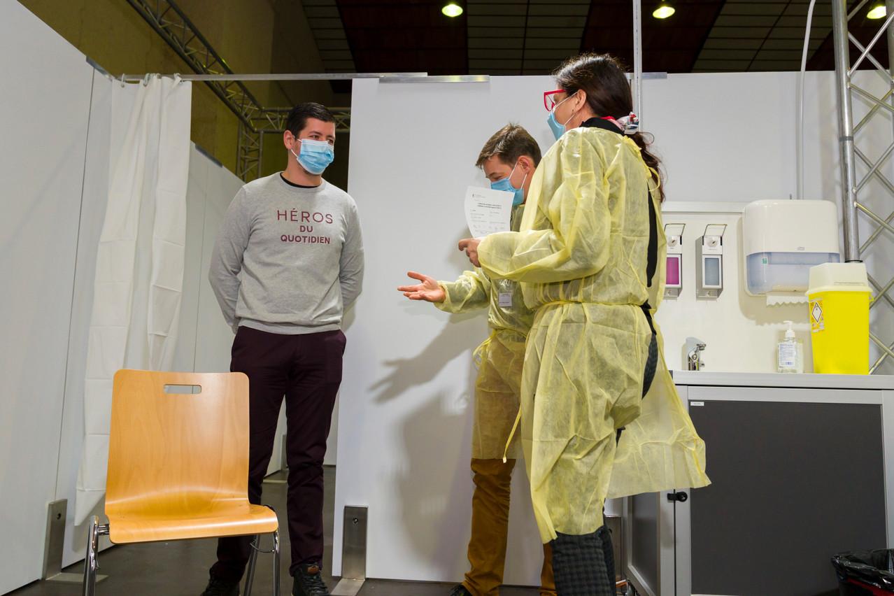 La conservation des données des personnes vaccinées est actuellement étudiée. (Photo: SIP/Emmanuel Claude/archives)