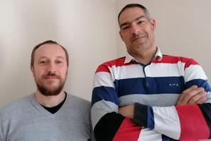 Rodolphe Carrieu (à gauche) & Vincent Di Gennaro (à droite): «La première raison est toute simple… Nous faire connaître des clients particuliers et professionnels et profiter pour agrandir notre réseau grâce au Paperjam Club.» (Photo: DR)