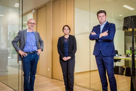 L'équipe de direction renforcée de Halsey (de gauche à droite): PascalHernalsteen, Yeliz Bozkir et NicolasPoncelet. (Photo: Halsey/Olivier Dessy)