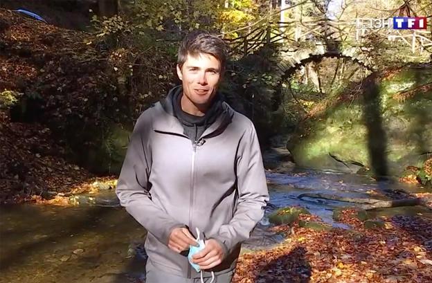 Durant huit minutes, le journaliste de TF1 a abondamment vanté les beautés du Luxembourg. (Photo: Capture d'écran/TF1)