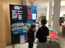 Pupils visit the school science exhibition Lycée Michel Lucius