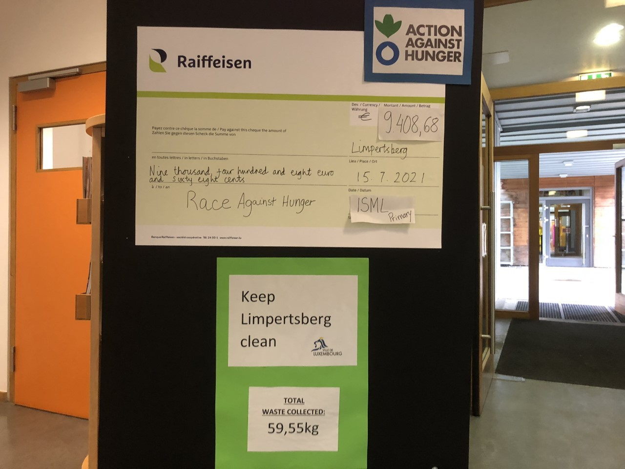 Pupils raised €9,408.68 in the Race Against Hunger Lycée Michel Lucius