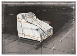 Christo,  Wrapped Armchair, Project , 1990, Lithographie avec collage, 64 x 88,5 cm, édition de 100, signée Galerie F. Hessler, — Stand C02 —, Prix sur demande ((Photo: DR))