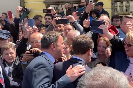 Xavier Bettel ne cache pas son amitié pour Emmanuel Macron, tant dans les rencontres officielles qu'en marge de celles-ci. (Photo: Capture d'écran/Euronews)