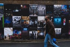 Vue de la campagne d'affichage «Chaleur humaine». ((Photo: Sven Becker))