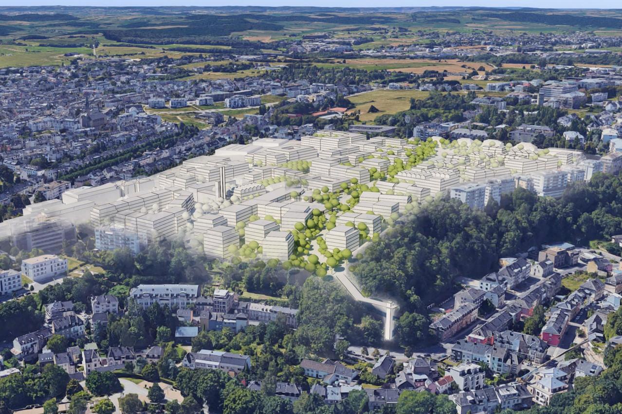 Le projet «Belved'air» fait la liaison entre le Rollingergrund et Belair. (Photo: Fabeck Architectes)