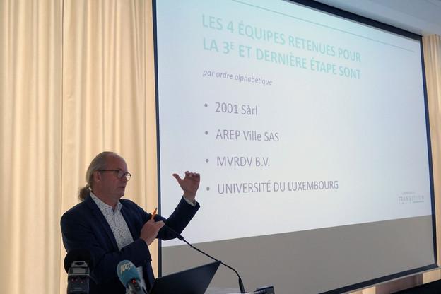ClaudeTurmes a annoncé les quatre équipes qui entrent en troisième phase de la consultation pour Luxembourg in Transition. (Photo: Département de l'Aménagement du territoire)