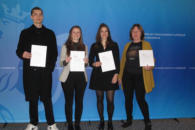 Ces étudiants ont été récompensés par la bourse Auguste van Werveke-Hanno. (Photo:ministère de l'Enseignement supérieur et de la Recherche)