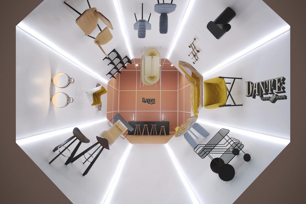 Dante - Goods and Bads ont présenté un stand à 360° à l'occasion du Salon du meuble à Milan. (Photo: Dante - Goods and Bads)