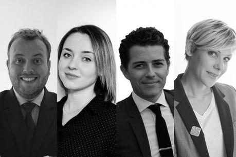 «Depuis plusieurs années, nous suivons, à travers les médias du groupe, les activités du Club avec grand intérêt» déclarent Romain Tisné, Dominique Carbon, Nicolas Perrichot et Emeline Baud. (Photo: Talantlers)