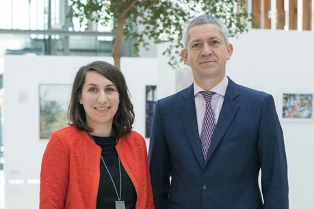 Nancy Thomas et Christian Scharff, respectivement directrice et président d'IMS Luxembourg, réseau qui veille à inspirer des pratiques responsables auprès des entreprises. (Photo: Sébastien Goossens / archives)