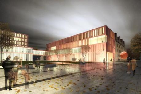 Le projet d'extension du Palais de justice de Nuremberg par architecture + aménagement. (Photo: architecture + aménagement)