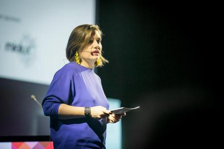 Céline Coubray lors de la dernière soirée 10x6 consacrée aux espaces de travail. (Photo: Maison Moderne Studio)
