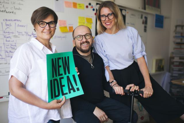 Magdalena Jakubowska, Piotr Gawel and Veronika Ondrikova. (Photo: Art Square Lab)