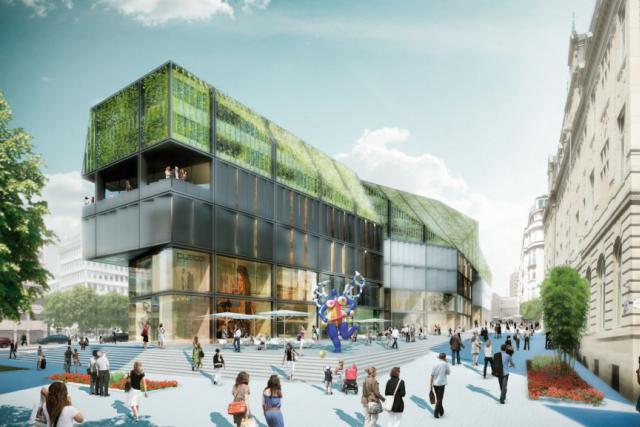 Projet pour le Royal-Hamilius. (Photo: Dagli Atelier d'architecture)