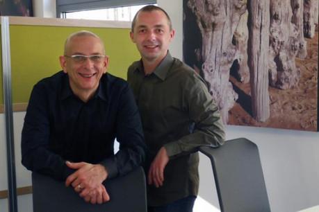Alain Godek (à gauche) et Yves Hoffmann ont cofondé Wishbox il y a 2 ans.  (Photo: DR)