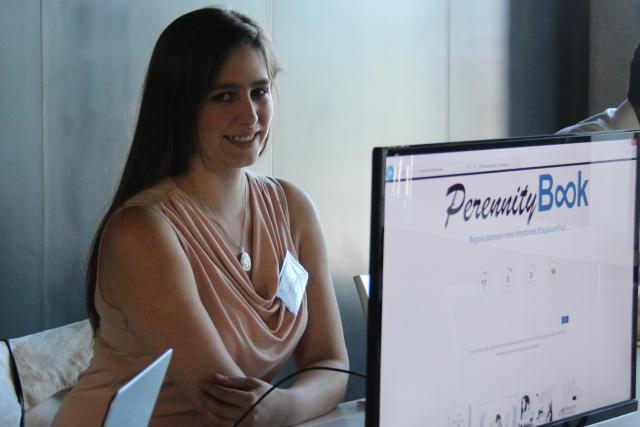 Pour Sarah Muschang, créatrice de PerennityBook, l'ambition est de se développer à l'international à partir du Luxembourg. (Photo: Deloitte)
