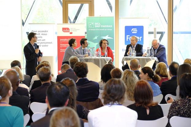 La table ronde organisée par Microlux a mis en avant l'expérience de micro-entrepreneurs. (Photo: BEI/WILI)