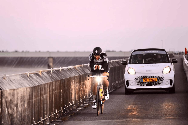Le coureur avait pris son départ samedi à 14heures. (Photo:Team Dizzy / Rom Helbach)