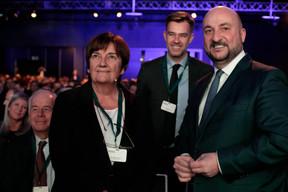 Michèle Detaille (Présidente de la Fedil), Franz Fayot (Ministre de l'Economie le 4 février prochain) et Étienne Schneider (Ministre de l'Économie jusqu'au 4 février) ((Photo: Matic Zorman))