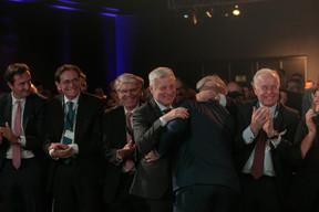 À gauche, Nicolas Buck (Président de l'UEL) et Claude Wiseler (CSV) au centre ((Photo: Matic Zorman))