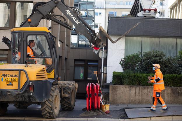 Le secteur de la construction a particulièrement été affecté par la crise sanitaire puisque certains ouvriers en contrat précaire et les intérimaires n'ont pas pu bénéficier du chômage partiel. (Photo: Matic Zorman / archives paperjam)