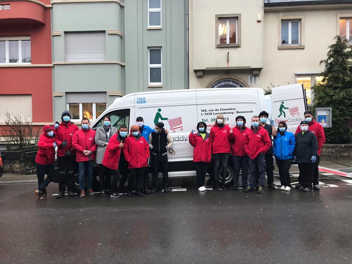 L'association Stëmm vun der Strooss, qui aide les gens vivant dans la rue, a obtenu un nouveau camion frigorifique grâce à la Fondation Covid-19. (Photo:Stëmm vun der Strooss)