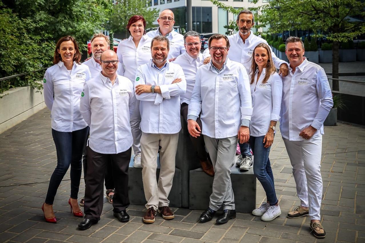 Les 11 ambassadeurs à l'origine du projet Foodamental, collectif complice et motivé. (Photo: Mickael Williquet/horescamedia.be)