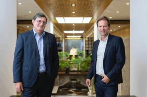 Yves Maas, CEO de l'Association des Banques et Banquiers Luxembourgeois (ABBL), et Olivier Chatain, Senior Country Officer pour le groupe Crédit Agricole au Luxembourg et CEO de CA Indosuez Wealth (Europe) Crédit: Patricia Pitsch - Maison Moderne Publishing SA