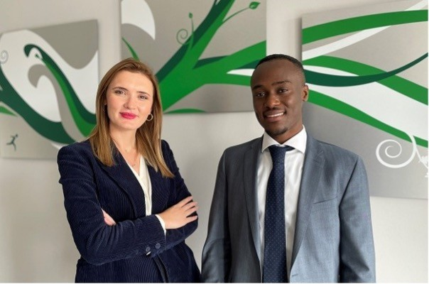 Angelica Ciorba and Gilchrist Hounhanou (Senior Consultants) from Avantage Reply Luxembourg. (Photo: Avantage Reply)