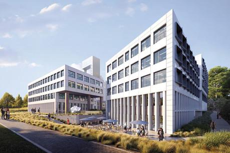 Codic Luxembourg et Tralux Immobilier ont annoncé, lundi 16 septembre, la signature d'un contrat de bail avec International Workplace Group (IWG) pour un centre Regus de 2.535m² dans l'immeuble Lhassa du projet Altitude développé à Leudelange. (Visuel: Art&Build et Beiler&François/Codic /Tralux Immobilier)