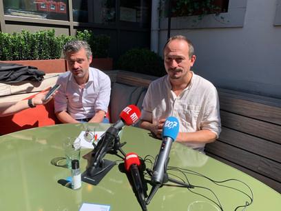 David Wagner et Marc Baum cèderont leur mandat au printemps 2021 à Nathalie Oberweis et Myriam Cecchetti. (Photo: Paperjam)