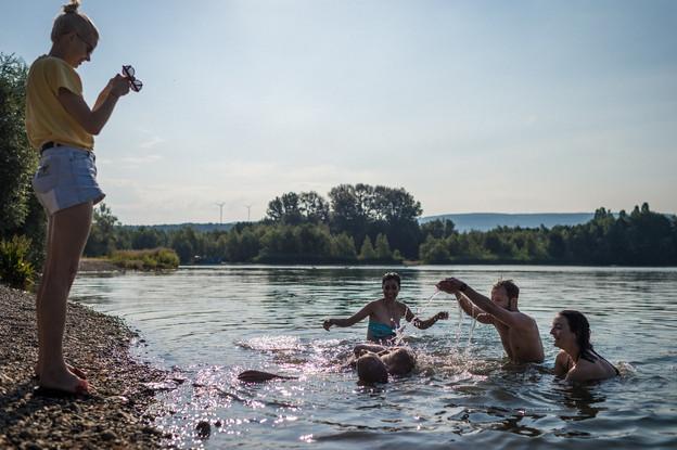 La baignade est autorisée dans le lac de Remerschen. (Photo: ORT Région Moselle)