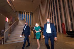 François Bausch (Ministre de la Mobilité et des Travaux publics), Taina Bofferding (Ministre de l'Intérieur) et Claude Turmes (Ministre de l'Énergie) ((Photo: Nader Ghavami/Maison Moderne))