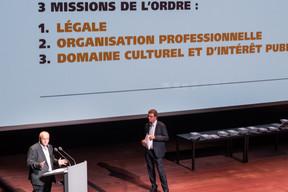 À gauche, Pierre Hurt (directeur de l'OAI) (Nader Ghavami)