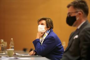 Michèle Detaille (Fedil), Franz Fayot (Ministre de l'Économie, LSAP) ((Photo: Matic Zorman / Maison Moderne))
