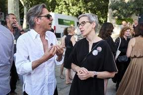 Nico Steinmetz (steinmetzdemeyer) et Sam Tanson (ministre de la Culture) ((Photo: Romain Girtgen / CNA))